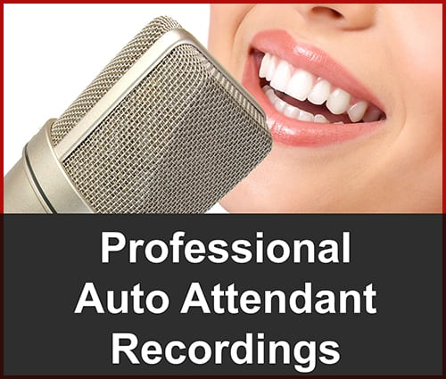 Professional custom auto attendant recordings for your for Auto attendant script template
